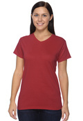Anvil 652 Women's Cotton V-Neck T-Shirt
