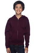 Jerzees 993B Youth 8oz Jersey Nublend Full Zip Hood Sweatshirt