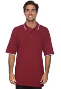Harriton M210 Adult Tipped Pique Polo