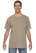Authentic Pigment 1969P Adult 5.6 oz. Pigment-Dyed & Direct-Dyed Ringspun Cotton Pocket T-Shirt