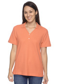 Devon & Jones D100W Women's Pima Pique Polo With Y-Neck