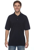 Harriton M265P Adult Easy Blend Pique Polo With Pocket