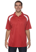 Harriton M318 Adult 4 oz. Polytech Colorblock Polo
